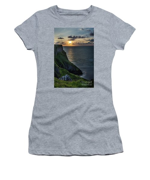 Sunset At Rhossili Bay Women's T-Shirt (Athletic Fit)
