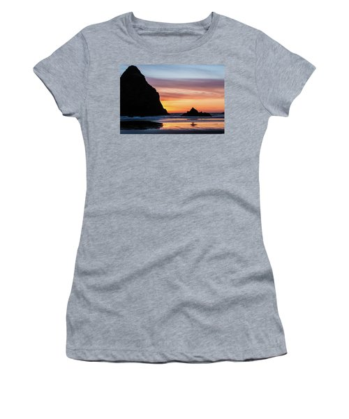 Sunset At Whalehead Beach Women's T-Shirt