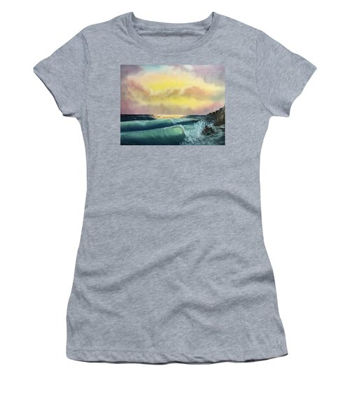 Sunset Beach Women's T-Shirt (Athletic Fit)