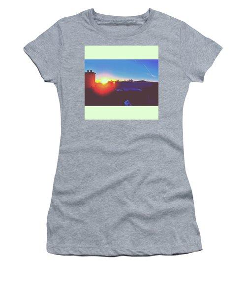 #sunset #bluesky #sun #l4l #lfl Women's T-Shirt