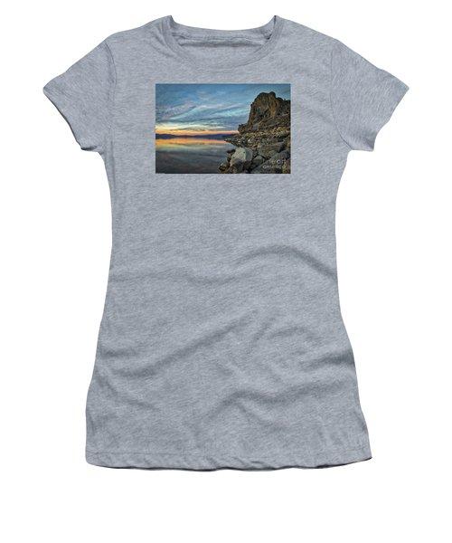 Sunset Cave Rock 2015 Women's T-Shirt (Athletic Fit)