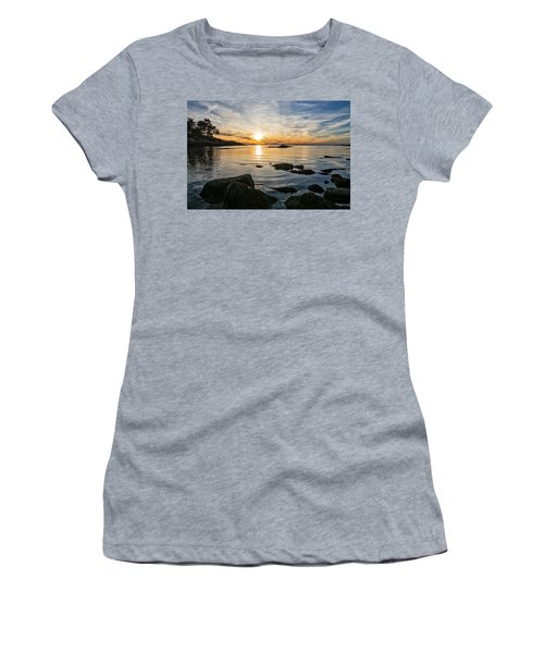 Women's T-Shirt featuring the photograph Sunset Cove Gloucester by Michael Hubley