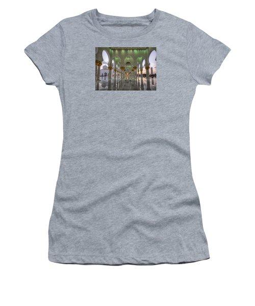 Sunset Hindu Temple Women's T-Shirt (Junior Cut) by John Swartz