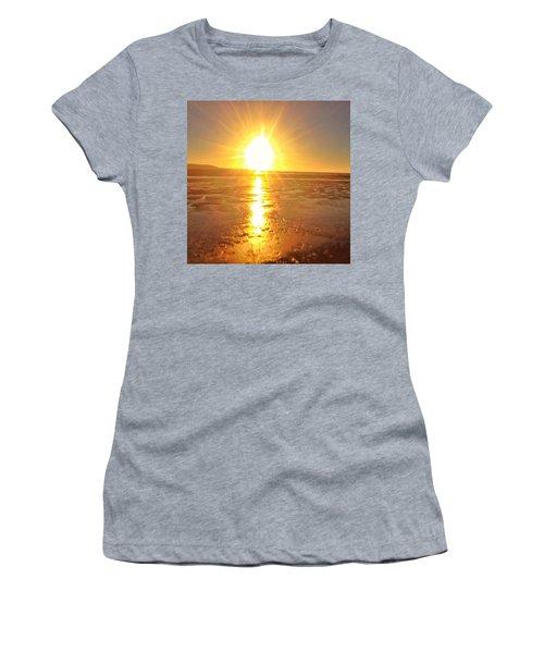 Sunset In College. #sunset  #sun Women's T-Shirt