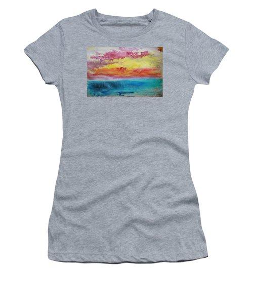 Sunset Lagoon Women's T-Shirt (Athletic Fit)