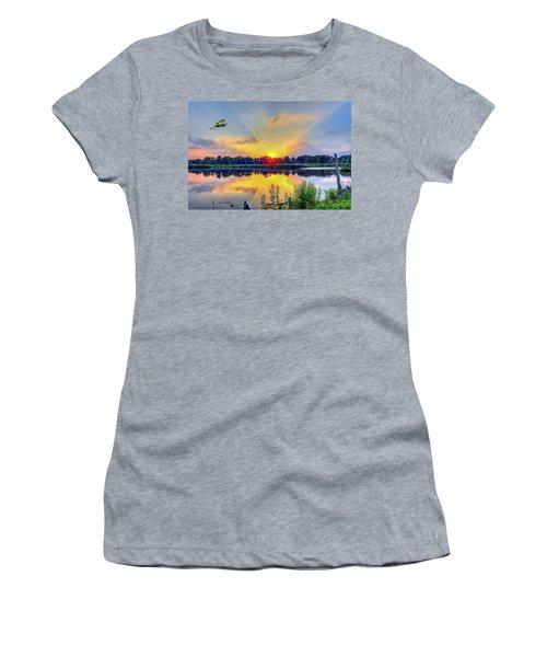 Sunset On A Chesapeake Bay Pond Women's T-Shirt