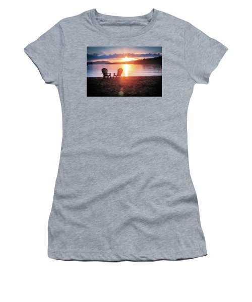 Sunset On Fourth Lake Women's T-Shirt