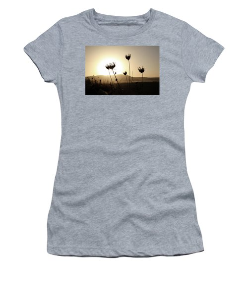 Women's T-Shirt (Junior Cut) featuring the photograph Sunset On Galilee Road by Yoel Koskas