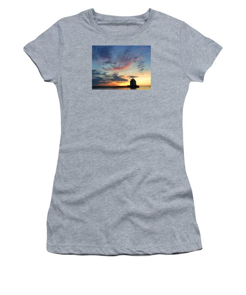 Sunset On Lighthouse Women's T-Shirt (Athletic Fit)
