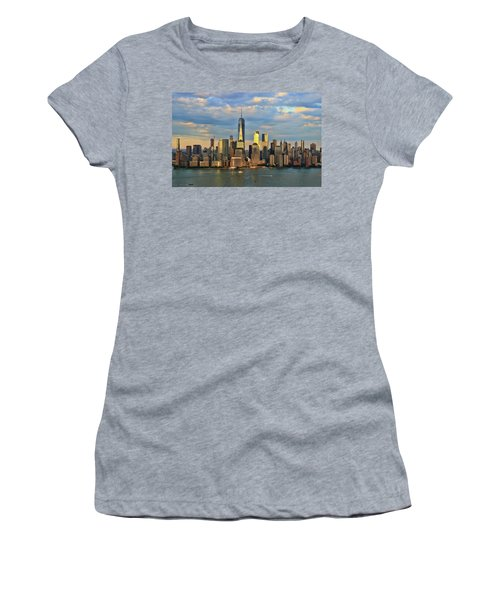 Sunset On Lower Manhattan Women's T-Shirt (Athletic Fit)