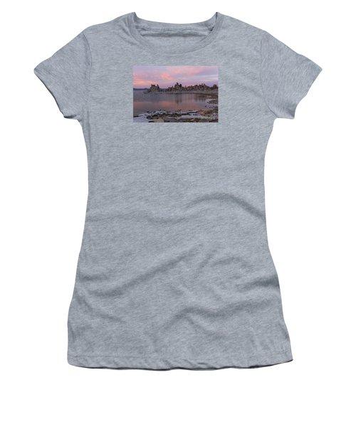 Women's T-Shirt (Junior Cut) featuring the photograph Sunset On Mono Lake by Sandra Bronstein