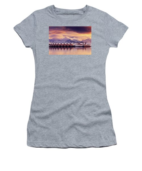 Sunset On Svolvaer Women's T-Shirt (Athletic Fit)