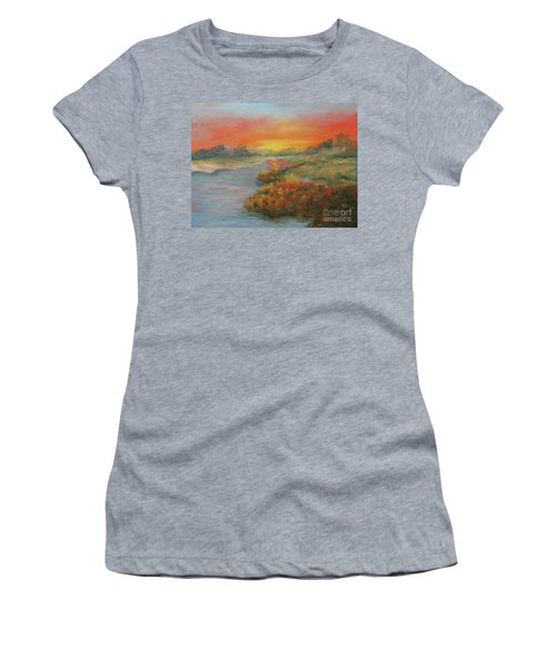 Sunset On The Marsh Women's T-Shirt
