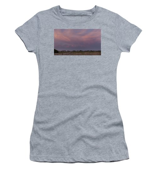 Sunset Over The Wetlands Women's T-Shirt