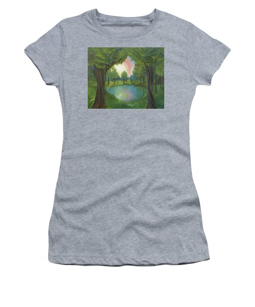 Sunset Through Trees Women's T-Shirt (Athletic Fit)