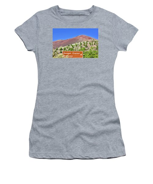 Sunset Crater Volcano Women's T-Shirt (Athletic Fit)