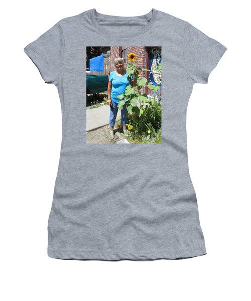 Sunshiny Hello From Marie Women's T-Shirt (Athletic Fit)
