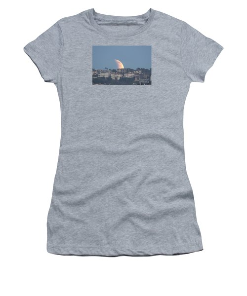 Super Moon Rise Women's T-Shirt (Junior Cut) by Loriannah Hespe