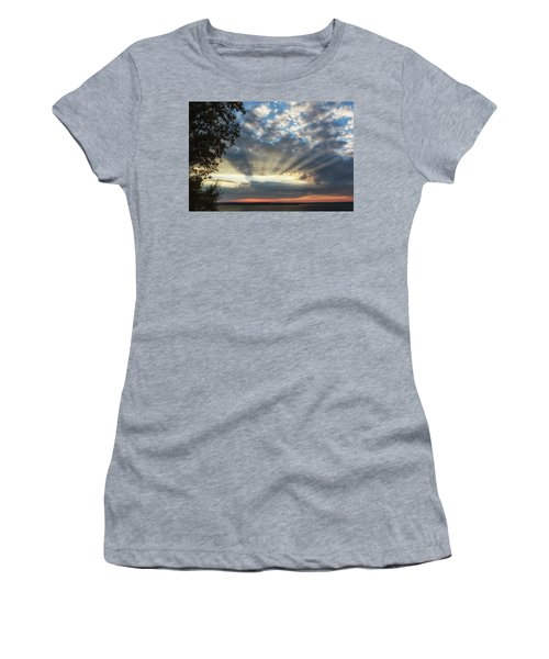 Women's T-Shirt featuring the photograph Superior Rays by Heather Kenward