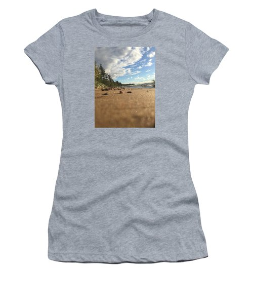 Women's T-Shirt (Junior Cut) featuring the photograph Superior Shore by Paula Brown
