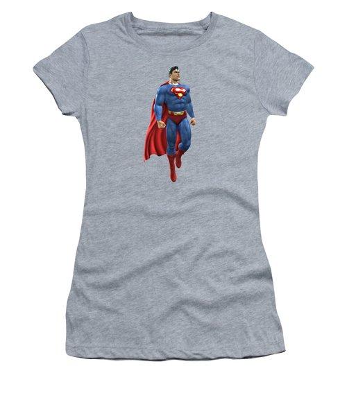 Superman Splash Super Hero Series Women's T-Shirt