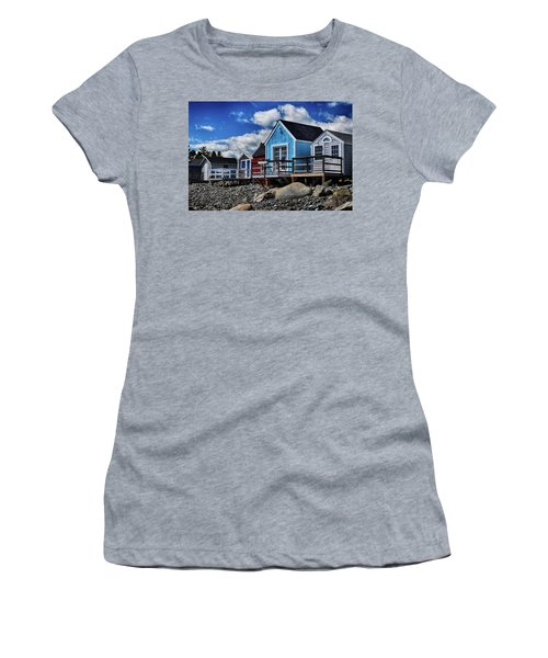Surf Shacks Women's T-Shirt (Junior Cut) by Tricia Marchlik