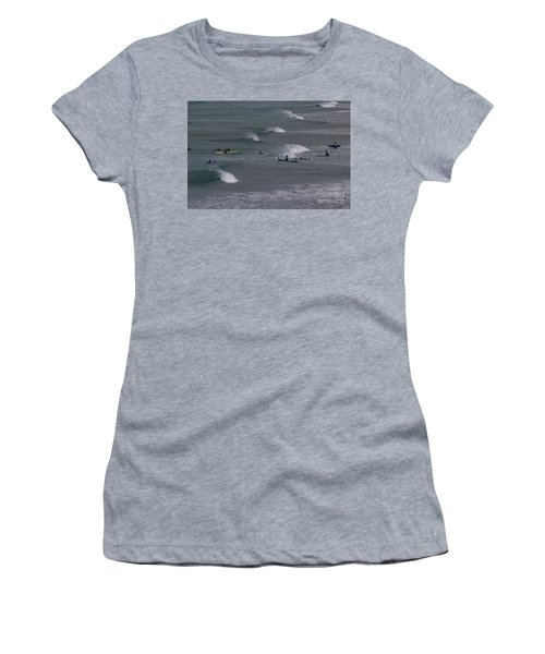 Photographs Of Cornwall Surfers At Fistral Women's T-Shirt