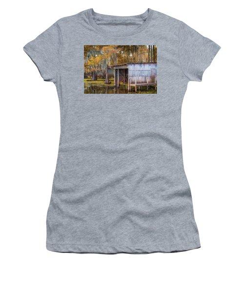 Swampy Dock  Women's T-Shirt (Athletic Fit)