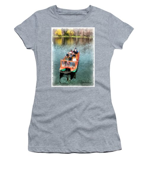 Swan Boats Boston Public Gardens Women's T-Shirt