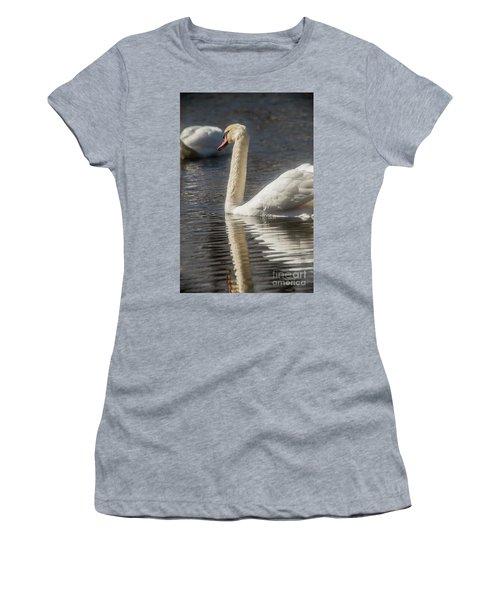 Women's T-Shirt (Junior Cut) featuring the photograph Swan by David Bearden