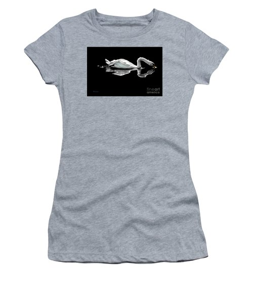 Swan Lake Nature Photo 2121a Women's T-Shirt (Athletic Fit)