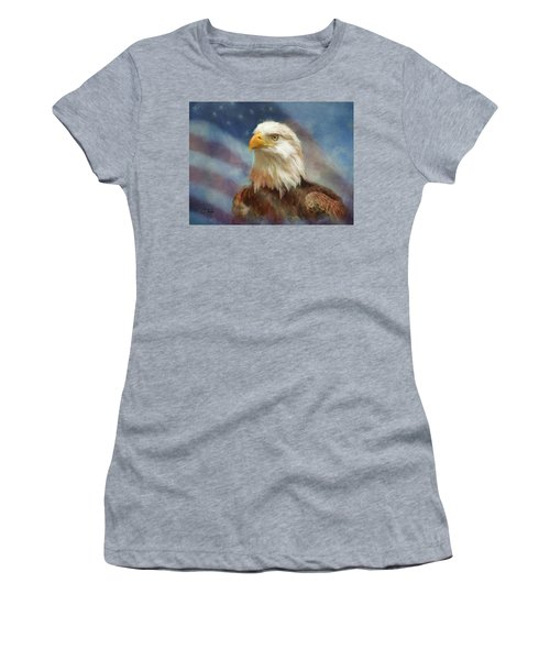 Sweet Land Of Liberty Women's T-Shirt (Junior Cut) by Colleen Taylor