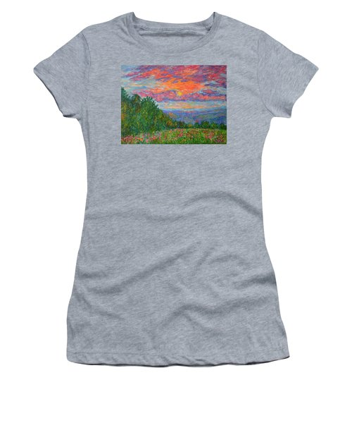 Sweet Pea Morning On The Blue Ridge Women's T-Shirt
