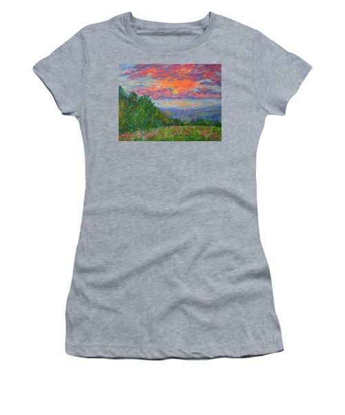 Sweet Pea Morning On The Blue Ridge Women's T-Shirt