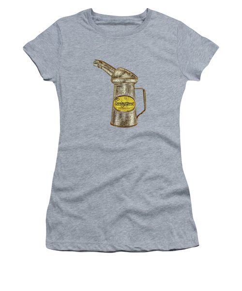Swingspout Oil Can On Black Women's T-Shirt