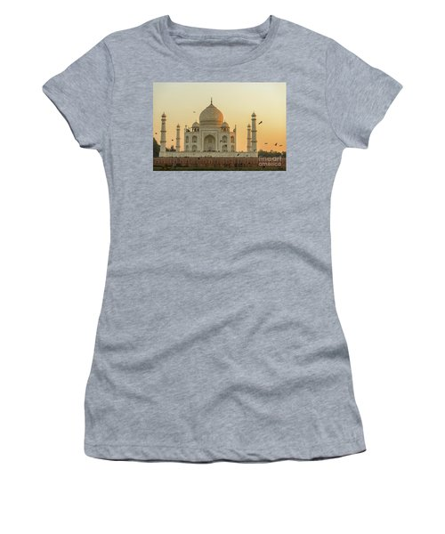 Taj Mahal At Sunset 01 Women's T-Shirt (Athletic Fit)