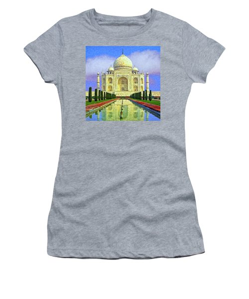 Taj Mahal Morning Women's T-Shirt (Athletic Fit)