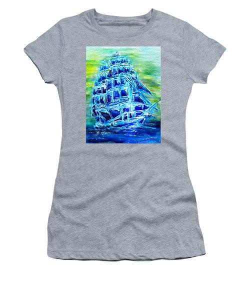 Tallship Alcohol Inks Women's T-Shirt