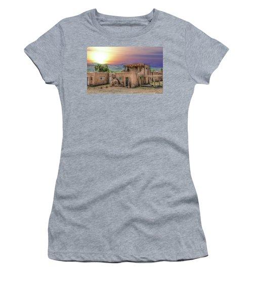 Taos Pueblo Women's T-Shirt (Athletic Fit)