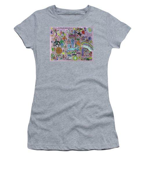 Taste The Rainbow Women's T-Shirt (Athletic Fit)