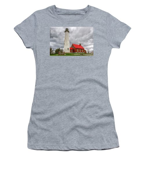 Women's T-Shirt featuring the photograph Tawas Point Lighthouse by Heather Kenward