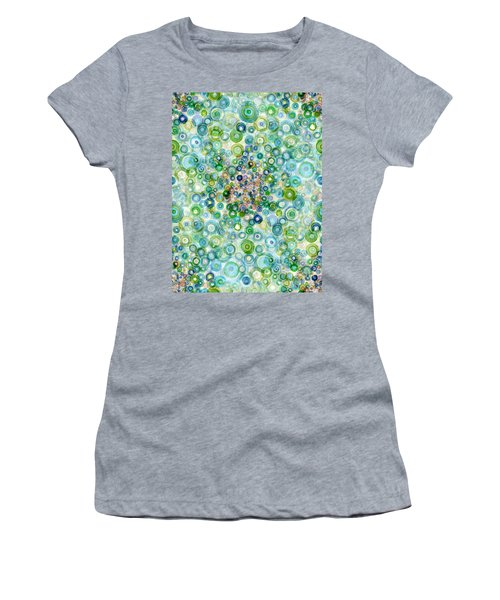 Teal And Olive Concavity Women's T-Shirt