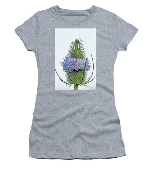 Teasel On White Women's T-Shirt (Athletic Fit)
