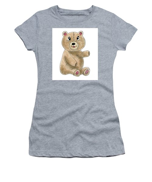 Teddy Bear Watercolor Painting Women's T-Shirt