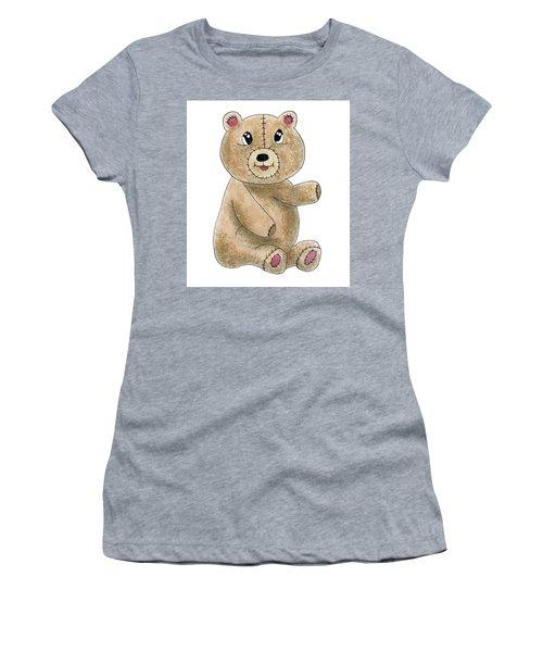 Teddy Bear Watercolor Painting Women's T-Shirt