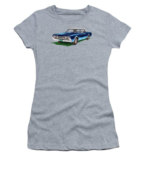 Tee Shirt Art 1967 Oldsmobile 4 4 2 Convertible Women's T-Shirt (Athletic Fit)