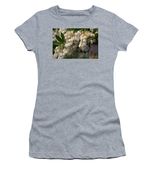 Women's T-Shirt (Junior Cut) featuring the photograph Temple Bells Andromedia by Chris Flees