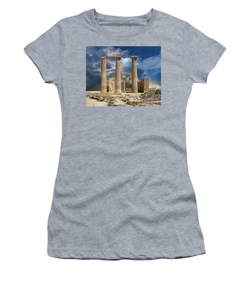 Temple Of Athena Women's T-Shirt (Athletic Fit)