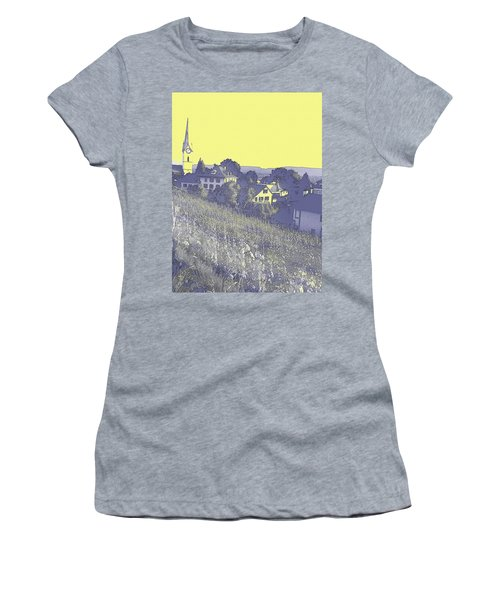 Women's T-Shirt featuring the digital art Ten After Eight On A Lavender Morning  by Shelli Fitzpatrick