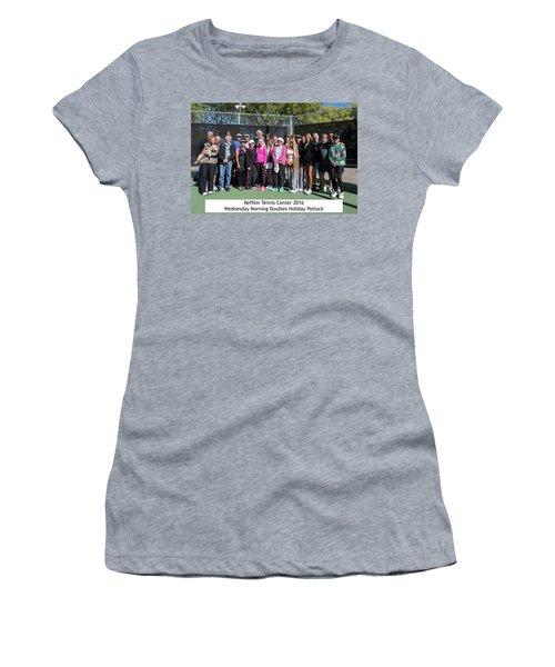 Women's T-Shirt (Junior Cut) featuring the photograph Tennis Potluck Group Shot by Dan McManus